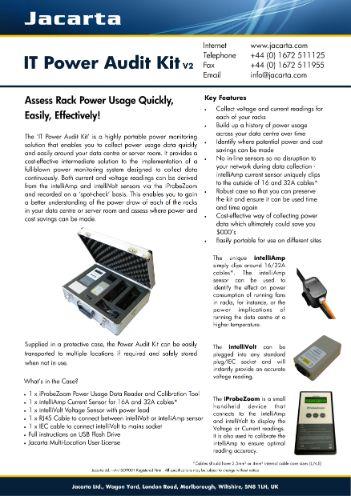 IT-Power-Audit-Kit Literature